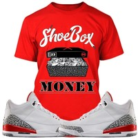 Air Jordan 3s Katrina Sneaker Tees Shirt - SHOE BOX MONEY PG