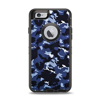 The Blue Vector Camo Apple iPhone 6 Otterbox Defender Case Skin Set