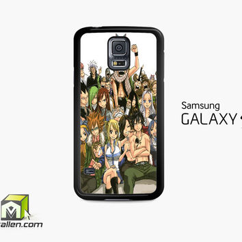 Fairy Tail Manga Collage Samsung Galaxy S5 Case Cover by Avallen