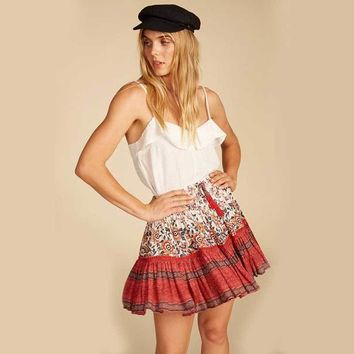 Boho Inspired Patchwork Short Skirt/Blouse