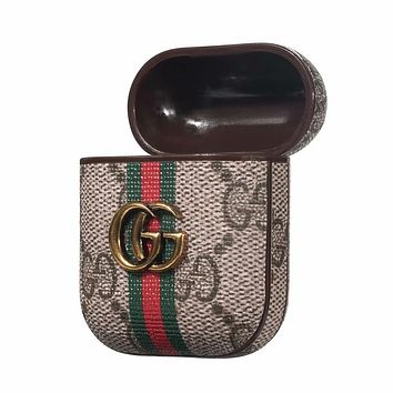 GUCCI Hot Sale Chic AirPods Bluetooth Wireless Earphone Case Protector (No Headphones)