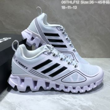 AUGUAU A464 Adidas Terrex High Frequency Breathable TPU Vamp Running Shoes White