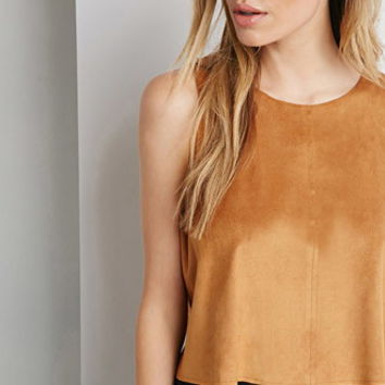 Faux Suede Top