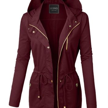 The Olivia Military Jacket - Burgundy