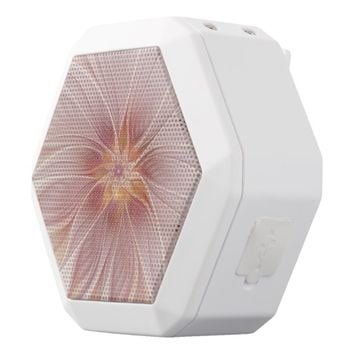Soft Pink Floral Dream Abstract Modern Flower White Bluetooth Speaker