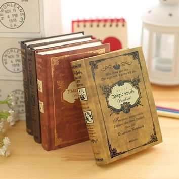 Europen Vintage Retro Magic Spells Hardcover Notebook Linenote Travel Journal Personal Dairy Memo Book 320 Pages School Supplies