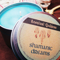 SHAMANIC DREAMS CANDLE - For Meditation & Shamanic Journeying Work