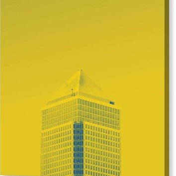 Urban Architecture - Canary Wharf, London, United Kingdom 6a - Canvas Print