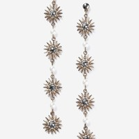 Flower Rhinestone Drop Earrings | Topshop