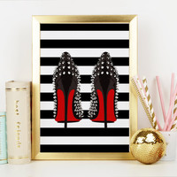 SHOES PRINT,High Heels,Birthday Gift,Gift For Wife,Gift For Her,Fashion Print,Shoes Wall Art,Shoe Print,Closet Print,Shoe Art,Closet Art