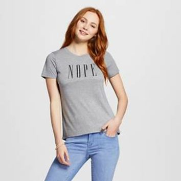 Women's NOPE Graphic Tee Heather Grey - Modern Lux