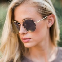 Can't Miss Me Silver Aviator Sunglasses