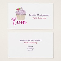 Pink Frosted Cupcake Yum! Business Card