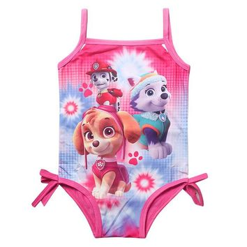 Girls Paw Patrol One-Piece Modest Swimsuit Bathing Suit