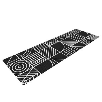 "Fimbis ""Whack"" Black White Yoga Mat"
