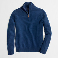 Factory lambswool half-zip sweater