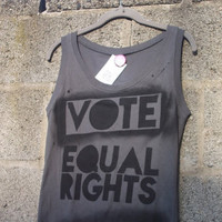 SALE Vote Equal Rights tank top LGBT Pride Straight Ally by Rainbow Alternative on Etsy
