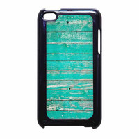 Teal Wood iPod Touch 4th Generation Case