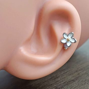 Daisy Flower Cartilage Earring Tragus Helix Piercing