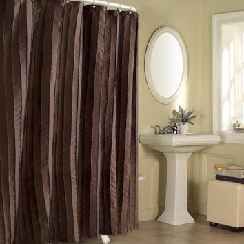 Sutton Place Fabric Shower Curtain, Espresso - Walmart.com