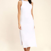 Lucy Love Love & Light White Bodycon Midi Dress