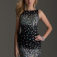 Clarisse 2472 - Black Beaded High Neck Homecoming Dresses Online