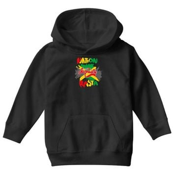 rasta nation, the reggae and dancehall Youth Hoodie