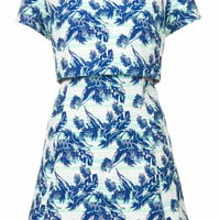TROPICAL LEAF CROP DRESS