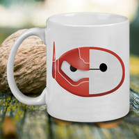 Baymax Face Helmet Mug, Tea Mug, Coffee Mug