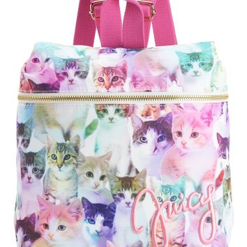 Multi Reigning Cats Nylon Backpack by Juicy Couture, No