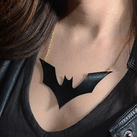 Batwoman Vegan Leather Necklace