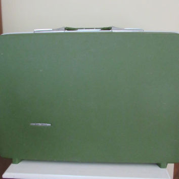 Large Green Vintage Samsonite Suitcase | retro luggage | 1960s suitcase