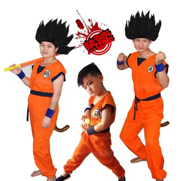 Dragon Ball Kids Costumes The Monkey King Anime Z Monkey Cosplay Costumes Boys Son Goku Clothing Children's Halloween Costume