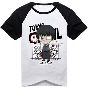 14Colors Tokyo Ghoul Kaneki Ken Printed T-shirt Cosplay Costume Unisex Short Sleeve Tee Shirt Daily Casual  All-Match Tops