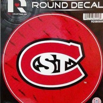"St Cloud State Huskies Saint 4"" Round Flat Vinyl Decal Bumper Sticker University"