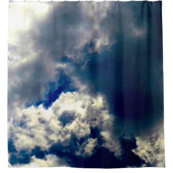 Skull Cloud Shower Curtain