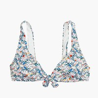 Women's Tie-Front Bikini Top In Liberty® Heidi Meadow Floral - Women's Swimwear | J.Crew