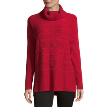 Liz Claiborne Long Sleeve Turtleneck Pullover Sweater - JCPenney