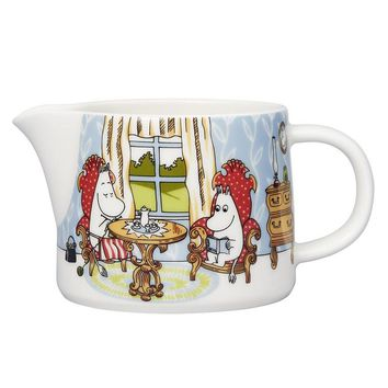 Moomin Afternoon in parlor pitcher 0.35 l by Arabia