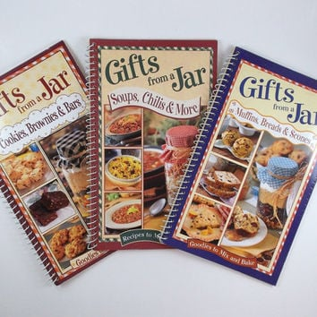 Gift From A Jar Recipes Books Set of Three Books Goodies to Mix and Bake Recipes to Mix and Give Destash Commercial Supplies