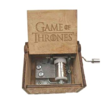 2017 Newest Hand Crank Harry Potter GAME OF THRONES Theme Wooden Music Box Free Gifts Interesting Toys Kid Xmas Gifts