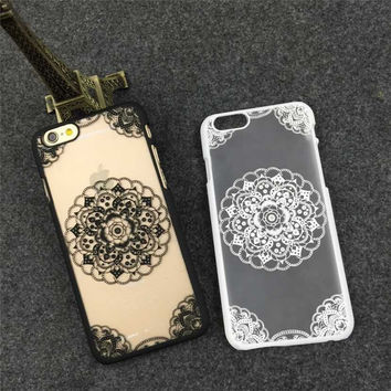 Retro Lace Floral Case for iPhone