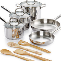 Martha Stewart Collection 12-Pc. Stainless Steel Cookware Set, Only at Macy's