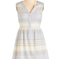 ModCloth Nautical Mid-length Sleeveless A-line Be My Bay Dress