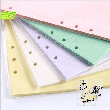 Fashion  Notebook Accessories A5 Solid Color Planner Inners Filler Papers 20 sheet/ Set Inside