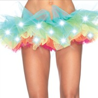 Light Up LED Rainbow Organza TuTu : High Quality Rave TuTus and Outfits
