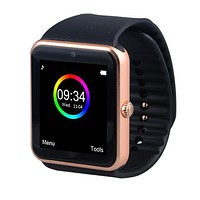 Smart Watch GT08 Clock Sync Notifier Support Sim Card Bluetooth Connectivity Apple iphone Android Phone Smartwatch Watch T50 Tag
