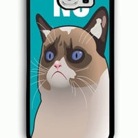 Samsung Galaxy S6 Case - Rubber (TPU) Cover with Cactus the Cranky Cat Rubber case Design