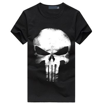 the punisher t shirt men streetwear tops skull 2017 summer new fashion short sleeve casual cotton harajuku homme brand t-shirts