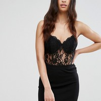 Club L Lace Cami Strap Bodysuit at asos.com